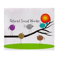 Retired Social worker A Throw Blanket