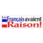 Les Francais Avaient Raison! Sticker (Bu