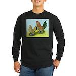 Mille Fleur Rooster & Hen Long Sleeve Dark T-Shirt