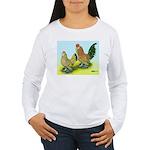 Mille Fleur Rooster & Hen Women's Long Sleeve T-Sh