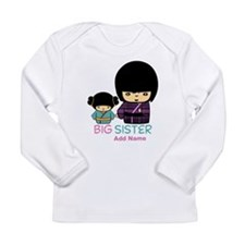 Custom Name Big Sister Long Sleeve T-Shirt