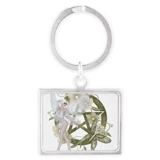 Beautiful fairy with pentacle Keychains