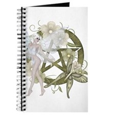 Beautiful fairy with pentacle Journal