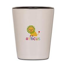 Atticus Loves Lions Shot Glass