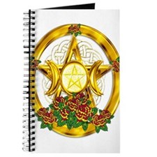 Gold Pentacle with Roses Journal