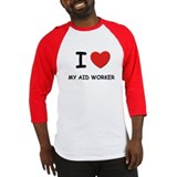 I love aid workers Baseball Jersey