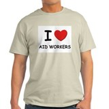 I love aid workers Ash Grey T-Shirt