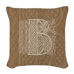 Celtic Letter B Woven Throw Pillow