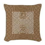 Celtic Letter H Woven Throw Pillow