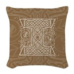Celtic Letter I Woven Throw Pillow