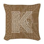 Celtic Letter K Woven Throw Pillow