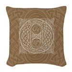 Celtic Letter O Woven Throw Pillow