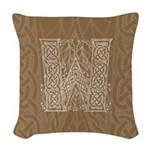 Celtic Letter W Woven Throw Pillow