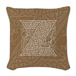 Celtic Letter Z Woven Throw Pillow