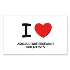 I love agriculture research scientists Decal