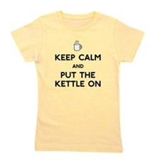 FIN-keep-calm-kettle-on.png Girl's Tee