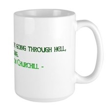 Coffee Mug with Winston Churchill quote