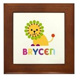 Brycen Loves Lions Framed Tile