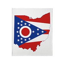 Ohio Flag Throw Blanket