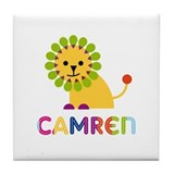 Camren Loves Lions Tile Coaster