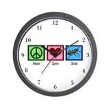 Peace Love Ants Wall Clock