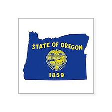 "Oregon Flag Square Sticker 3"" x 3"""