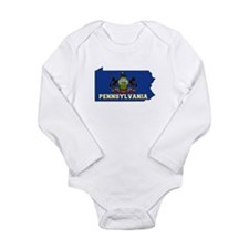 Pennsylvania Flag Long Sleeve Infant Bodysuit
