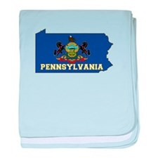 Pennsylvania Flag baby blanket