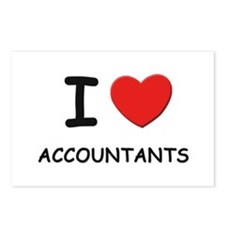 I love accountants Postcards (Package of 8)