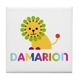 Damarion Loves Lions Tile Coaster