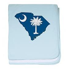 South Carolina Flag baby blanket