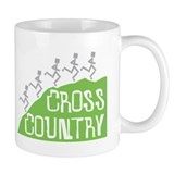 Cross Country Running Hill Small Mugs