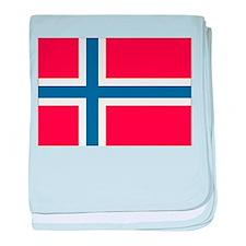 Norwegian Flag baby blanket