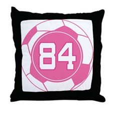 Soccer Number 84 Custom Player Throw Pillow