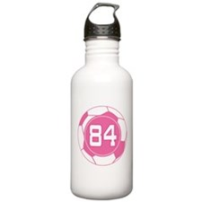 Soccer Number 84 Custom Player Water Bottle