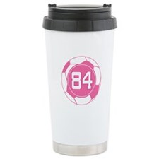 Soccer Number 84 Custom Player Ceramic Travel Mug