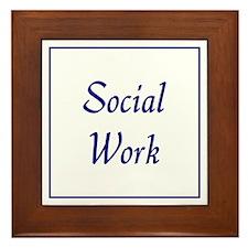 Social Work (blue) Framed Tile