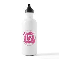 Soccer Number 17 Custom Player Water Bottle