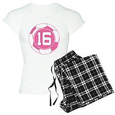 Soccer Number 16 Custom Player Pajamas