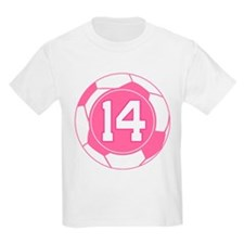 Soccer Number 14 Custom Player T-Shirt