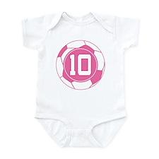 Soccer Number 10 Custom Player Infant Bodysuit