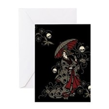 Gothic Geisha Greeting Card