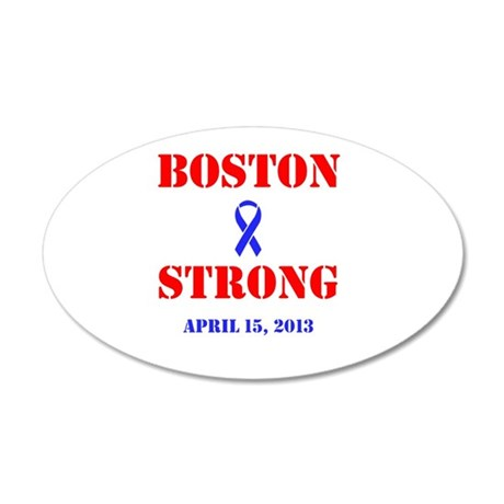 Boston Strong Red and Blue Wall Decal