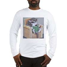 cat_reading_new Long Sleeve T-Shirt