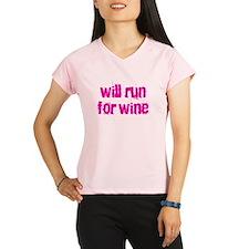 willrunforwine2 Peformance Dry T-Shirt