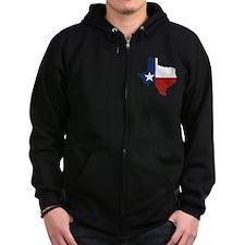 Texas Flag Zip Hoodie