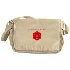 I'd Critically Hit That - Red Messenger Bag