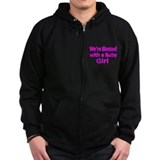 Were blessed with a Baby Girl-pink Zip Hoodie