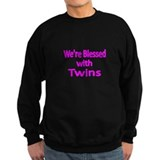 Were blessed with Twins-pink Sweatshirt