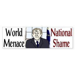 W: World Menace, National Shame (Sticker